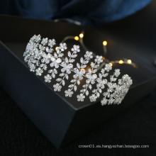 2020 nuevo diseño de material de circón accesorios para el cabello de la boda tocado nupcial