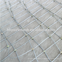 SNS Rockfall slope protection netting stainless steel wire rope mesh net price