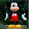 Outdoor Life Size Fiberglass Mickey Mouse Sculpture