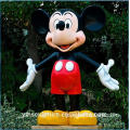 Outdoor Life Size Fiberglass Mickey Mouse Escultura