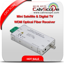 Mini Satélite de Alta Resolución y Digital L Band TV Wdm Receptor de Fibra Óptica