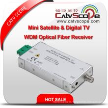 Mini Satélite y Digital L Band TV Wdm Receptor de fibra óptica