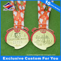 Monkey Medal New Year Running Award Gold Metal Medal with Diamonds