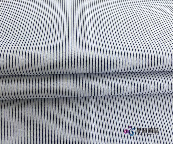 Polyester Blend Yarn Dyed Pinstripe Fabric