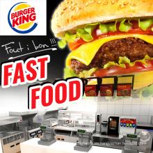 Equipo de cocina de restaurante de comida rápida comercial usado