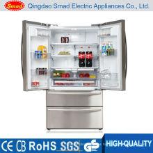 electrodoméstico refrigerador y congelador uno al lado del otro