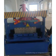 Máquina formadora de rollos de plataforma metálica para piso