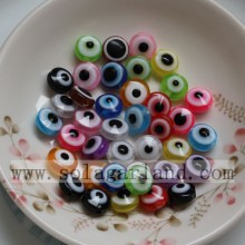 7*10MM Resin Evil Eye Beads With 1.5MM Hole