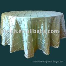 nappe pintuck, nappe de taffetas, couverture de table, linge de table pour mariage, banquet, hôtel