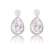 90969 xuping fashion jewelry 2018 china trending products silver color bijuteria women cubic zirconia earrings