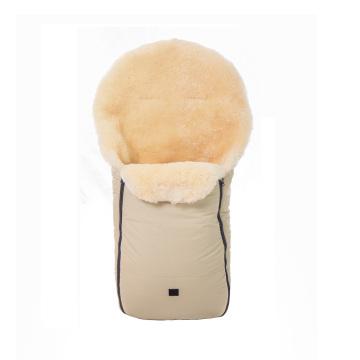 Chancelière pour bébé en cuir d'agneau pour sac à bandoulière d'hiver pour poussette