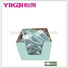 Wonder promotional flocking plastic clothes hanger in little display carton