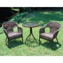 Set de sillas de ocio al aire libre jardín de la rota de mimbre Patio muebles