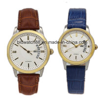 Best Golden Stainless Steel Pair Watch for Lover Gift