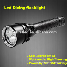 High quality Cree xm-l2 LED super bright scuba gear hid diving light red led hunting light