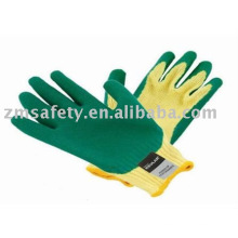 Latex coated cotton glove