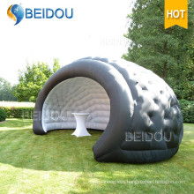 Outdoor Marquee Wedding Event Party Bubble Camping Black Dome Tent Inflatable Shell Tents