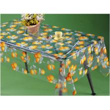 Buntes PVC druckte transparente Tischdecke mit Frucht-Entwurf für Haus / Partei / im Freien