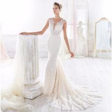 Robe de mariée en dentelle de champagne