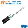 GYXTC8S Figura 8 tubo flexible central autoportante de 2 6 12 24 cables de fibra óptica