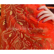 Organza Embroidery Fabric for Garments