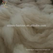 Fibra de lã fina de cashmere 100% branco 30-35mc
