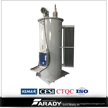 O óleo imergiu almofada de fase 167kVA monostam o regulador de tensão montado da etapa