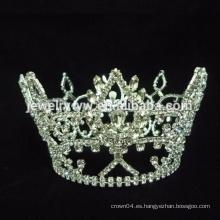 Peines de pelo Rhinestone Love Shape Corona de cristal nupcial Tiara Tiara de pelo