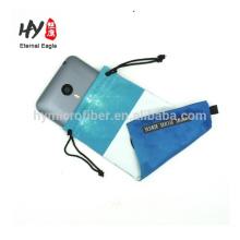 Fábrica que produce la bolsa de anteojos de microfibra de grado superior de gamuza suave, textil para gafas de sol, funda de microfibra