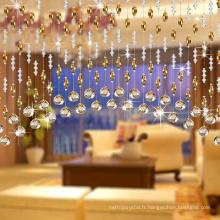 rideau en perles de cristal en gros pour rideau de porte de décoration