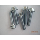 Grade 8.8 zinc plated carbon steel hexagon flange bolt
