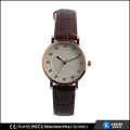 fashion leather wrist watch quartz lady watch stones