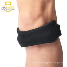 Sportschutz Verstellbare Kompressions-Silikon-Knie-Hülse Patella Band