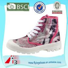 Señora estilo nuevo barato lienzo superior botas casuales para gril