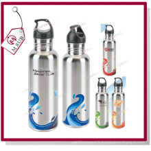 Ruban couleur aluminium sport en acier inoxydable flacon de 500ml Sublimation
