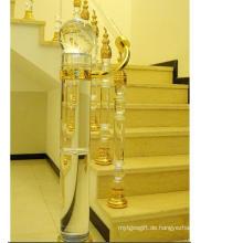 Art- und Weisekristallglas-Treppengeländer-Säulenzusätze für Hauptdekoration