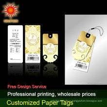 Custom clothing tags / hang tag / garment hangtag