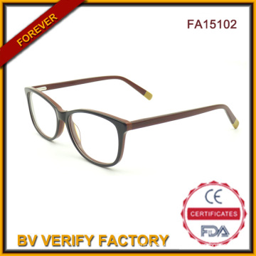 Newest Trend Fancy Glasses Fashion Women Acetate Designer Glasses From China (FA15102)