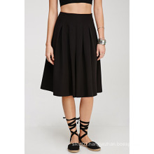 Popular Hepburn Wind A-Line Ladies′ Pleated Skirt for Women
