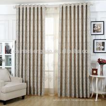 Tissu de rideau de fenêtre jacquard personnalisé de luxe