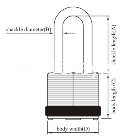 Waterproof Laminated Padlock