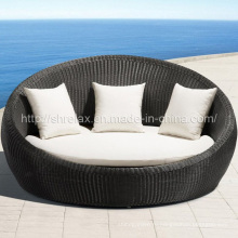Сада ротанга круглый Плетеный диван открытый патио мебель
