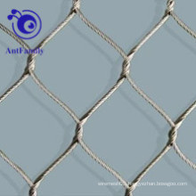 Stainless Steel Ferrule Rope Mesh For Animal