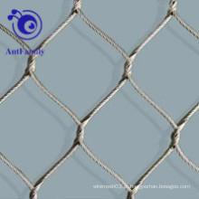 Malha de aço inoxidável da virola da corda para o animal