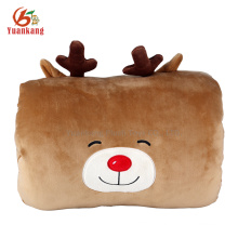 2016 new style deer shaped stuffed toy hand warmer pillow