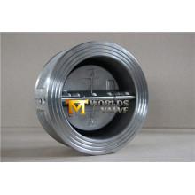 Válvula de verificação dupla da placa da bolacha CF8 com o ISO Wras do Ce aprovada