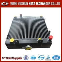 Placa de aluminio y radiador de aceite hidráulico de barra soldada