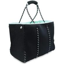 Neoprene Fabric Women Large Designer Beach Tote Bag
