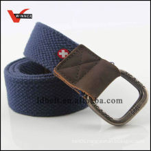 Durable Solid Men Woven Fabric Belts