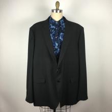 Дизайн клиента Мужской классический черный костюм в стиле вестерн больших размеров